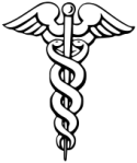 The Caduceus symbolizes the kundalinin in the form of the intertwined serpents representing the ida and pin gala nadir spiraling up the spinal chord, with the wings symbolizing the transformation from duality into unity.