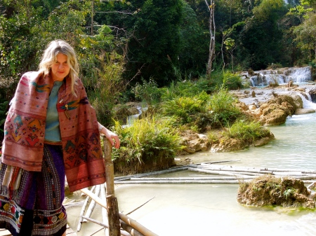 I surrendered to the Aquaria at the Waterfall named after her...at the Vanvisa Healing Center outside Lupang Prabong in Laos.